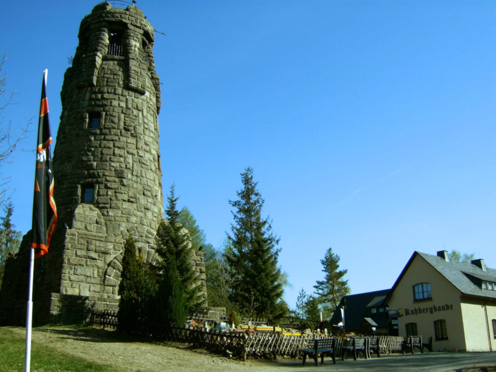 Aussichtsturm auf dem Kuhberg  © Gaststätte Kuhbergbaude