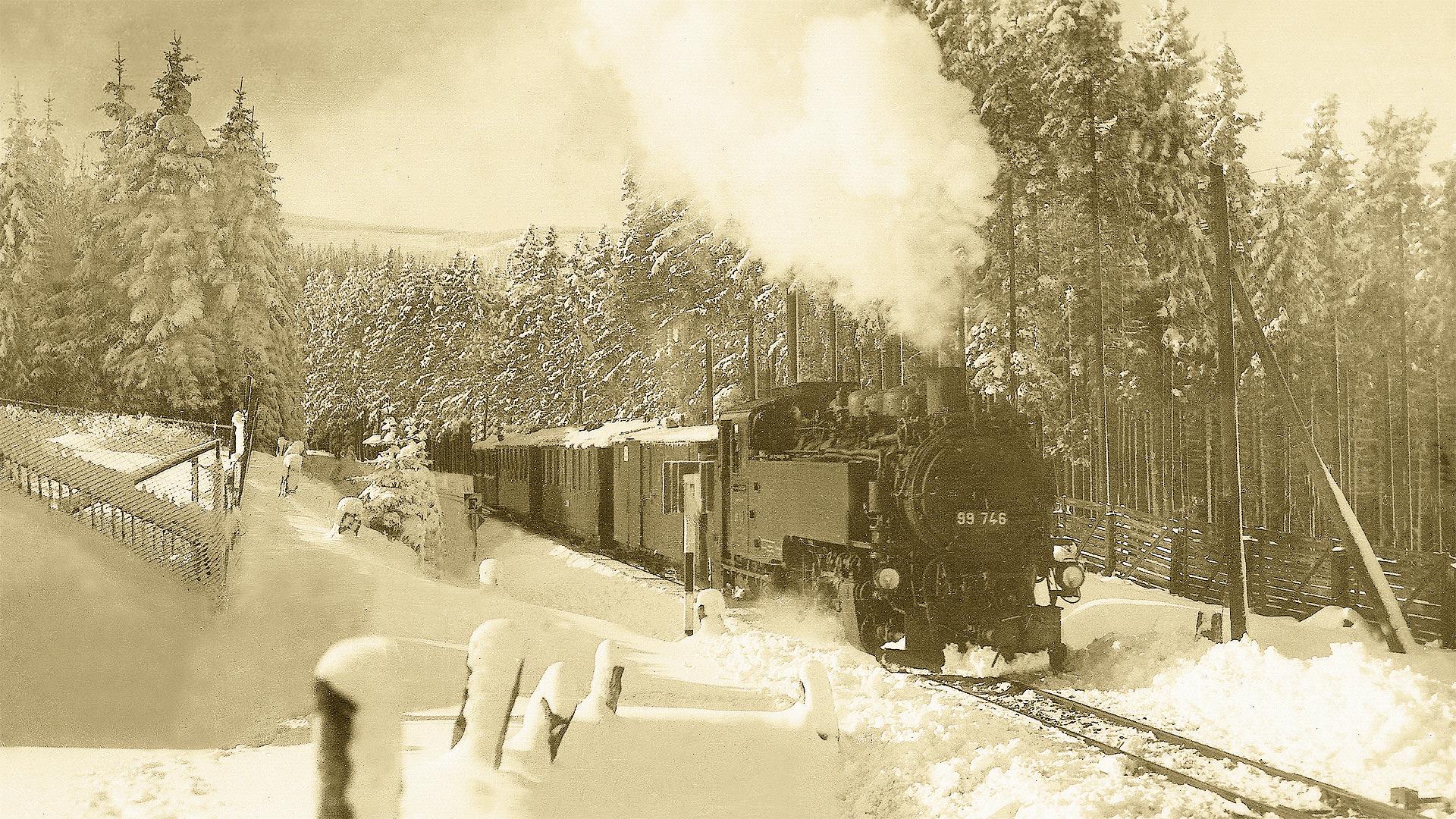 Dampfzug Schmalspurbahn Cranzahl–Kurort Oberwiesenthal  © Sammlung Claus Schlegel