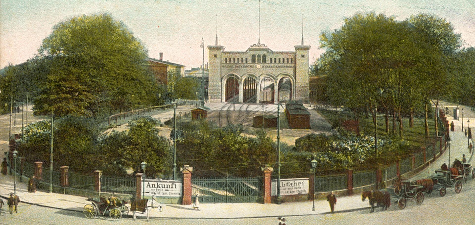 Historische Bayerischer Bahnhof in Leipzig.  © Sammlung Linz