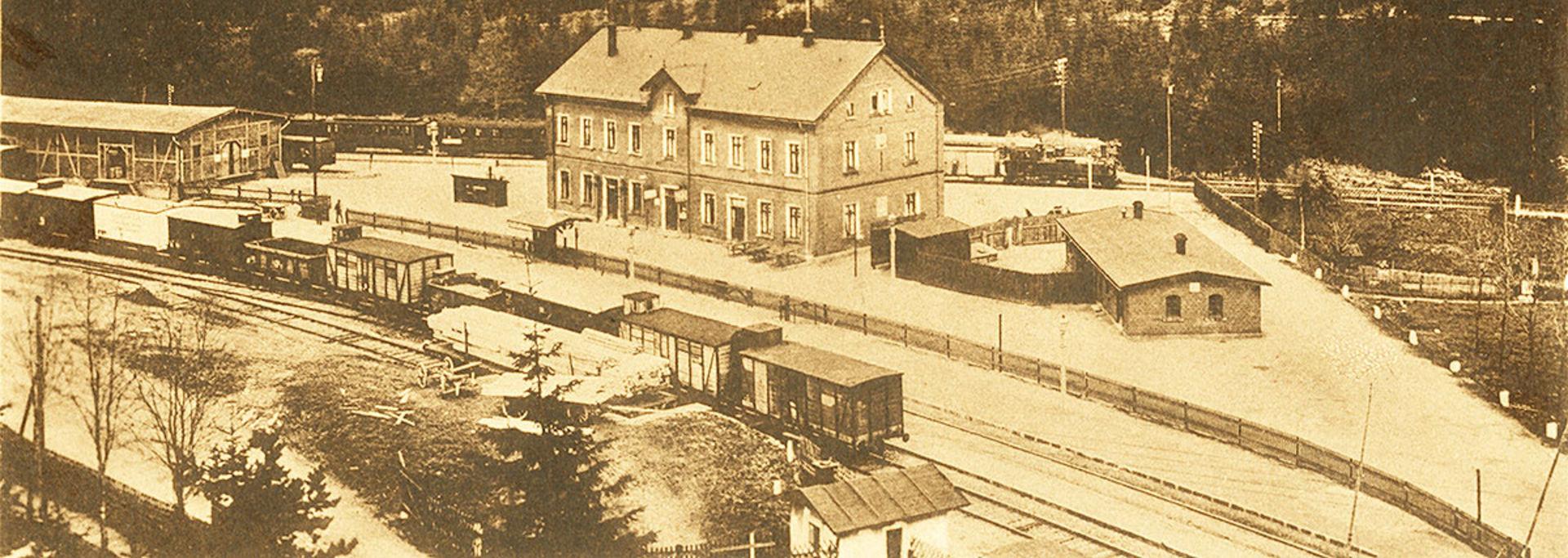 Historischer Bahnhof Wiltzschaus (Schönheide Süd)  © Sammlung A Linz