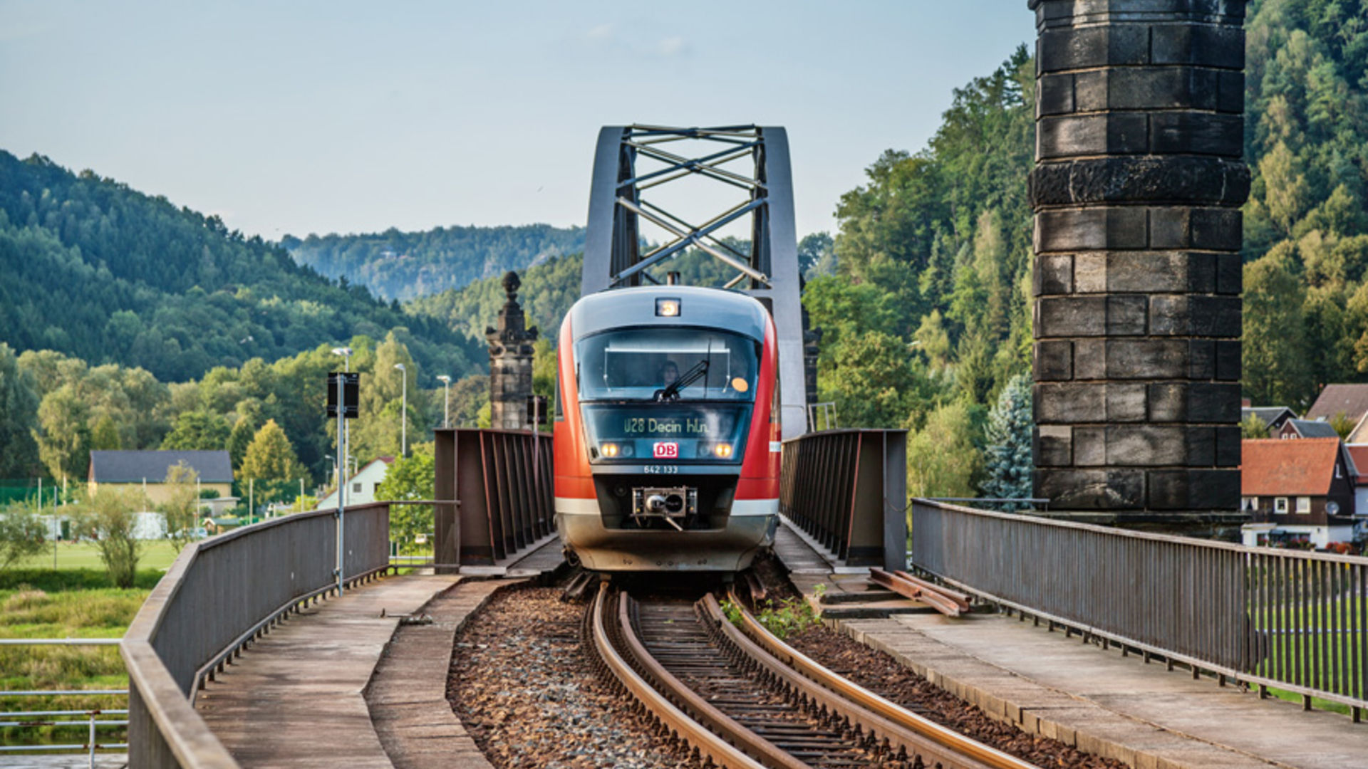 Nationalparkbahn U28 in Bad Schandau 