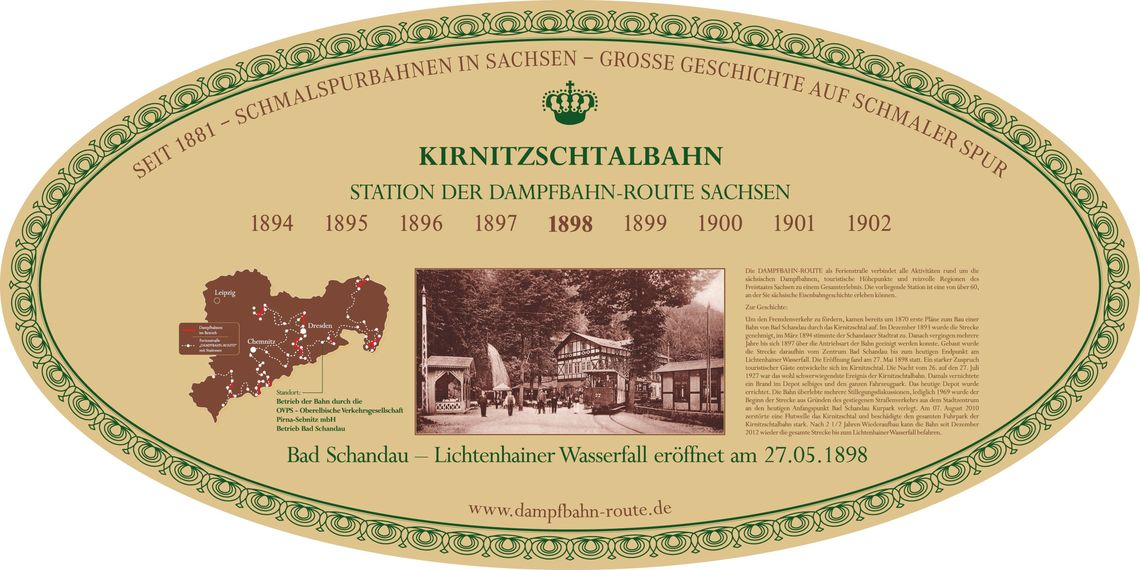 Stationsschild - Kirnitzschtalbahn/Bad Schandau