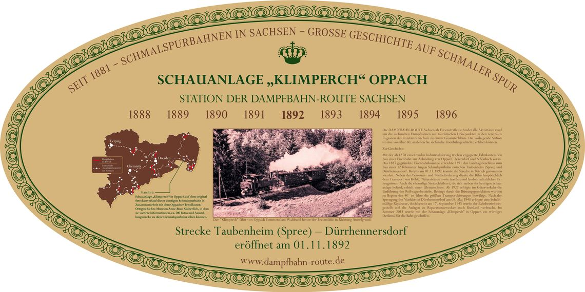 "Stationsschild - ""Klimperch"" Exhibition Railway Oppach/ Taubenheim"