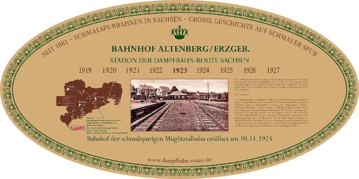 Stationsschild - Dworzec Altenberg