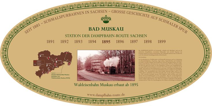 Stationsschild - Bad Muskau Station